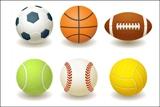 Футбол, волейбол, баскетбол, теннис