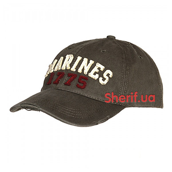 Кепка Baseball Cap Stone Washed Marines 1775 Green