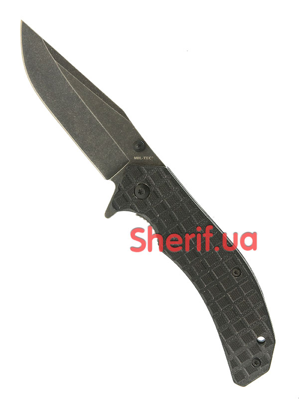 Нож MIL-TEC G10 Stone Washed Black