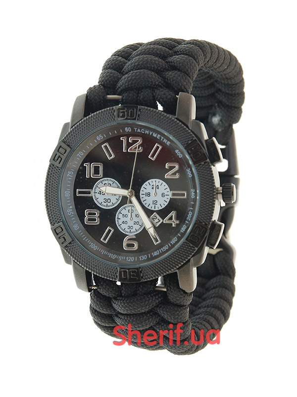 Часы военные MIL-TEC ARMY UHR PARACORD Black