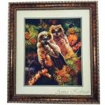 Картина бисером «Ночные стражи леса»