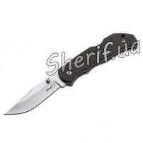 Нож BOKER PLUS OPTIMA BLACK складной клинок  9см кожаный чехол 01BO103