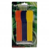 Стрелы для пист.арбалета Man Kung MK-PL-3C, (пластик, 12 шт/уп, 3 цвета ц:желтый, синий, оранжевый)