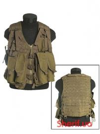 Жилет разгрузочный MIL-TEC АК-74 12 карман. Coyote