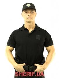 Футболка поло черная Полиция-6