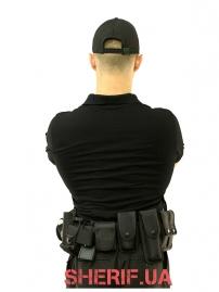 Футболка поло черная Полиция-7
