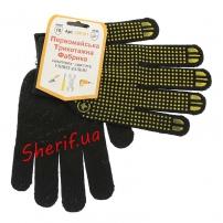 Рукавицы трикотажные для защиты рук черные (хлопок 60%)