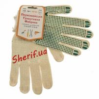 Рукавицы трикотажные для защиты рук белые (хлопок 90%)
