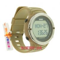 Часы Skmei 1111 Pulse Coffee BOX с шагомером