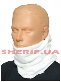 Шлем-маска Витязь из полар-флиса White-4