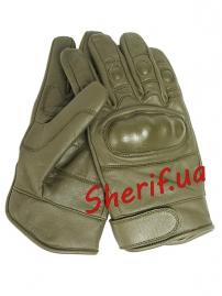 Перчатки MIL-TEC тактические кожаные OLIVE, 12504101-4