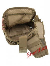 Рюкзак MIL-TEC через плечо Assault Coyote, 8л-5