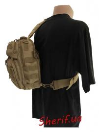 Рюкзак MIL-TEC через плечо Assault Coyote, 8л-8