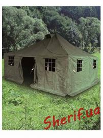 Армейский шатер-палатка  Pe/Сanvas 4,8x4,8м Olive