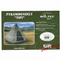 "Палатка MIL-TEC 4-местная ""TIPI"" Пирамида Olive, 14227000 6"