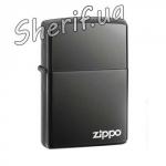 Зажигалка Zippo BLACK ICE w ZIPPO LOGO - Laser 150 ZL