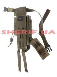 Кобура на ногу MIL-TEC универсальная Olive-3