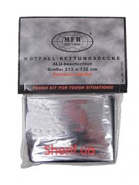 Термозащитное спасательное одеяло Max Fuchs (213х132см), silver