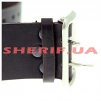Ремень портупейный кожаный, коричневый-3