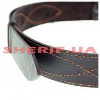 Ремень портупейный кожаный, коричневый-4