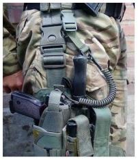 Шнур страховочный для пистолета витой Black