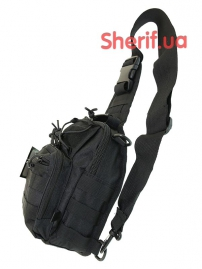 Рюкзак однолямочный Max Fuchs MOLLE Black-2