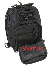 Рюкзак однолямочный Max Fuchs MOLLE Black-7