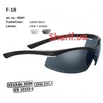 Очки Swiss Eye F-18 black-2