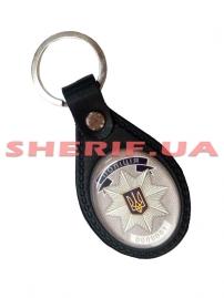 Брелок для ключей Полиция/жетон (кожа), 4056/2-2