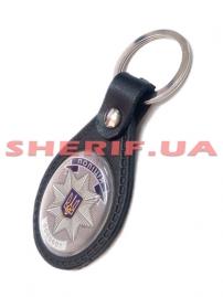 Брелок для ключей Полиция/жетон (кожа), 4056/2