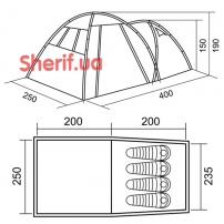 Палатка RedPoint Base четырехместная-16