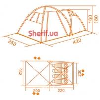 Палатка Кемпинг Together 4 PE (4823082700547)-14