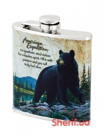 Фляга 6Y51 American Expedition-Медведь (6OZ)