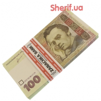 Сувенирная пачка денег по 100 гривен PPN-4083