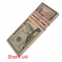 Сувенирная пачка денег по 50 долларов PPN-4078