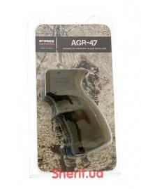 Пистолетная рукоять для АК-47-74, Вепрь, Сайга прорезиненная Green-4