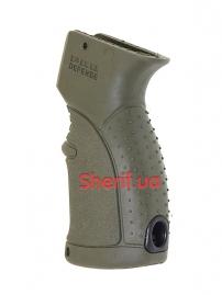 Пистолетная рукоять для АК-47-74, Вепрь, Сайга прорезиненная Green