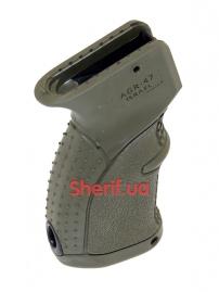 Пистолетная рукоять для АК-47-74, Вепрь, Сайга прорезиненная Green-2