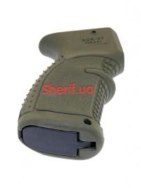 Пистолетная рукоять для АК-47-74, Вепрь, Сайга прорезиненная Green-3