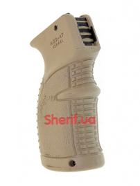 Пистолетная рукоять для АК-47-74, Вепрь, Сайга прорезиненная Tan