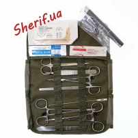 Аптечка MIL-TEC с набором хирургических инструментов США 12 предм. 16025000