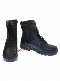 Ботинки MIL-TEC тактические кожа/кордура на молнии Black