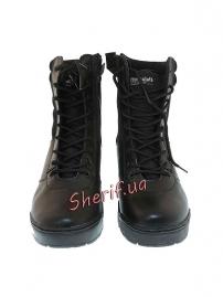 Ботинки MIL-TEC тактические кожа/кордура на молнии Black, 12822000-2