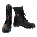 Ботинки MIL-TEC тактические US кожаные на скоростных петлях Black