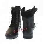 Ботинки MIL-TEC тактические кожа/кордура на молнии Black 12822000-4