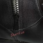 Ботинки MIL-TEC тактические кожа/кордура на молнии Black 12822000-7
