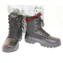 Ботинки MIL-TEC тактические на молнии YKK Black