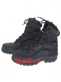 Ботинки кожаные с высокой берцой Black (модель 3)-3