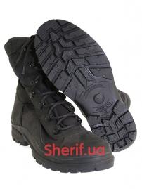 Ботинки кожаные с высокой берцой Black (модель 3)-4