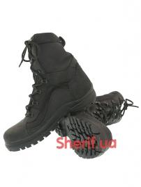 Ботинки кожаные с высокой берцой Black (модель 3)